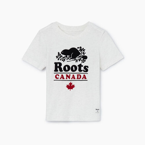 Roots-Kids New Arrivals-Toddler Roots Canada T-shirt-Ivory Mix-A