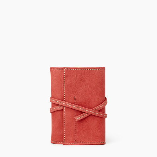 Roots-Leather Tech & Travel-Roll Up Case Tribe-Coral-A