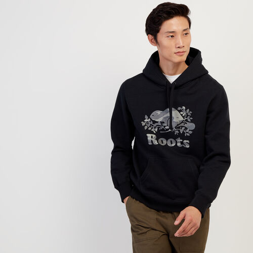 Roots-Men New Arrivals-Camo Cooper Beaver Kanga Hoody-Black-A