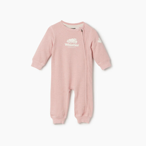 Roots-Kids Rompers & Onesies-Baby Girl Whistler Ski City Romper-Dusty Blush-A