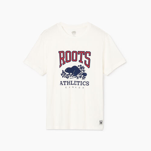 Roots-Men Bestsellers-Mens RBA T-shirt-Egret-A