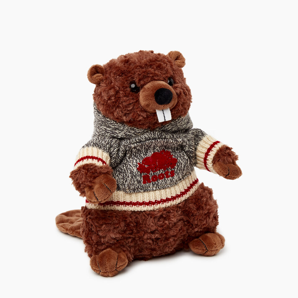 Roots-Women General Store-Roots Beaver Stuffie-Grey Oat Mix-A