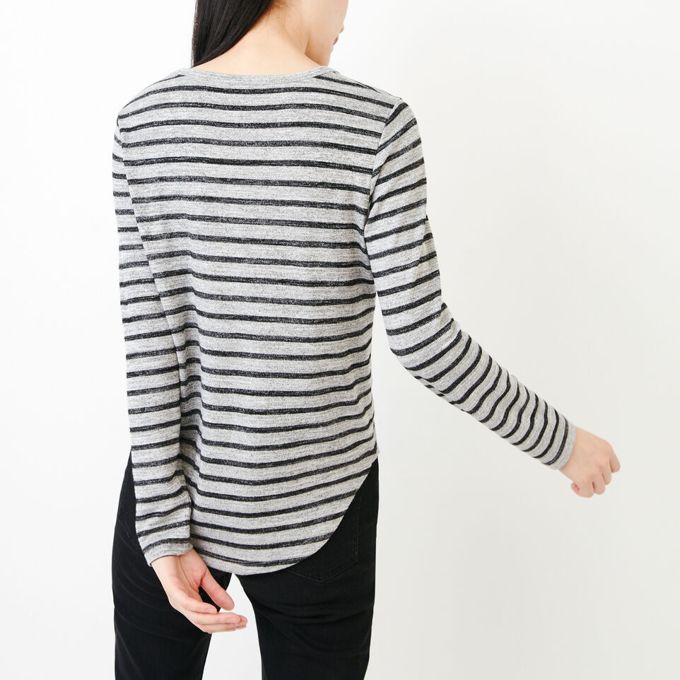 Roots-Women Our Favourite New Arrivals-Cayley Top-Salt & Pepper-D