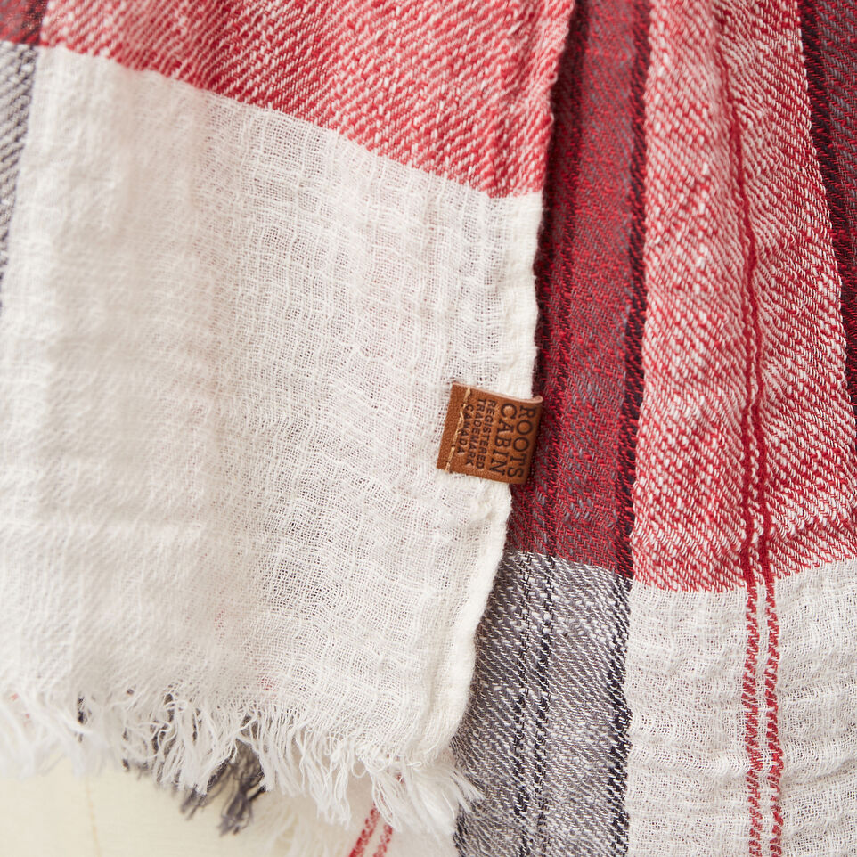 Roots-undefined-Smoke Lake Plaid Scarf-undefined-D