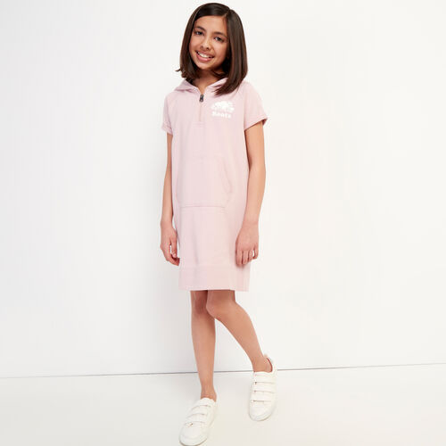 Roots-Sweats Girls-Girls Dockside Hooded Dress-Burnished Lilac-A