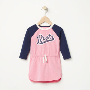Roots-Kids Baby Girl-Baby Tracy Script Dress-Sea Pink Mix-A