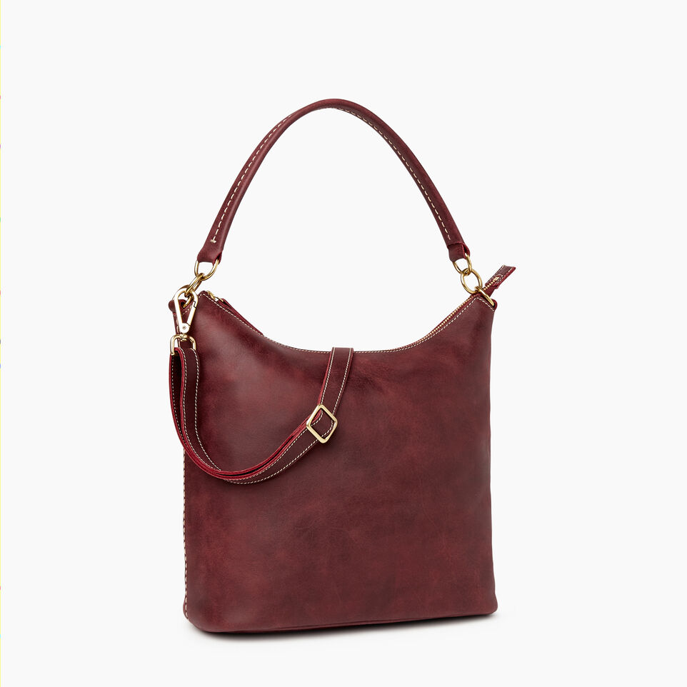 Roots-Leather  Handcrafted By Us Our Favourite New Arrivals-Ella Bag-Crimson-A