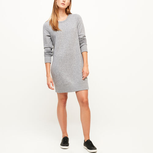 Roots-Winter Sale Women-Cozy Fleece Dress-Salt & Pepper-A