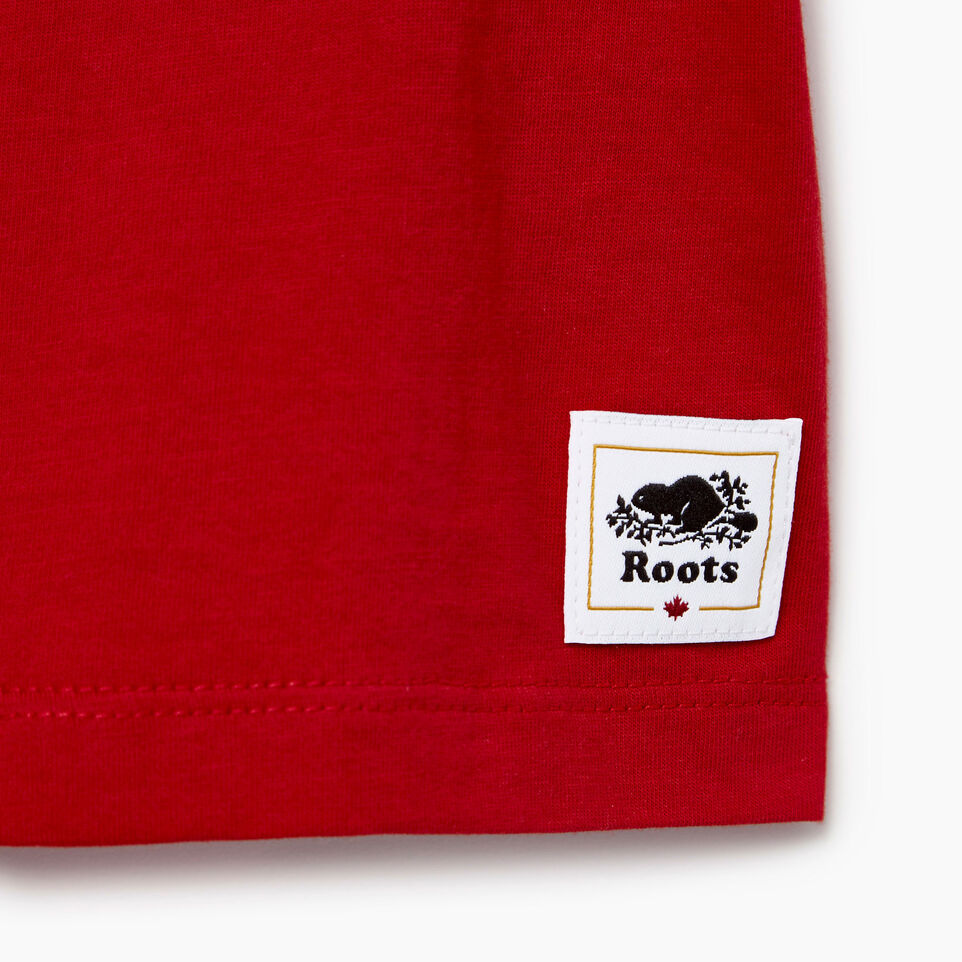 Roots-Kids New Arrivals-Baby Canada T-shirt-Sage Red-C