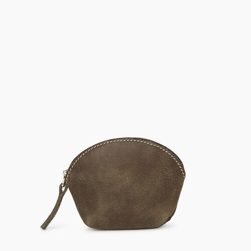 Roots-Women Leather Accessories-Small Euro Pouch-Pine-A