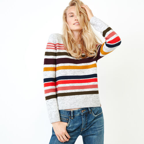 Roots-Women Sweaters & Cardigans-Vawn Sweater-Grey Mix-A