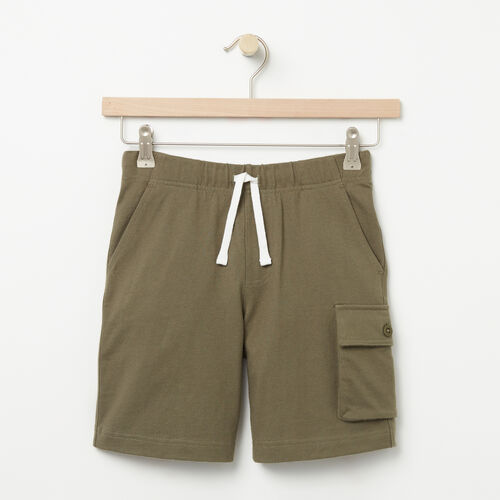 Roots-Sale Boys-Boys Camp Short-Dusty Olive-A