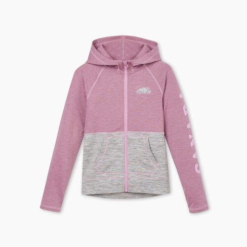 Roots-Kids Girls-Girls Lola Active Full Zip Hoody-Valerian Mix-A