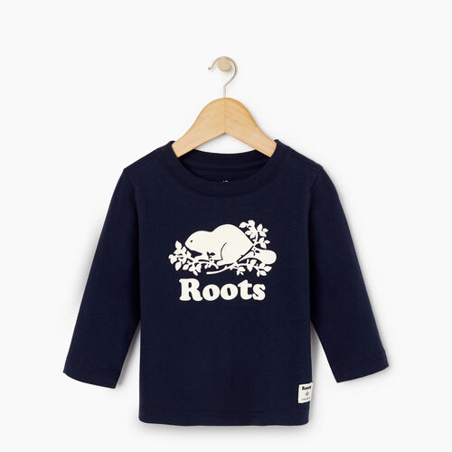Roots-Kids Our Favourite New Arrivals-Baby Original Cooper Beaver T-shirt-Navy Blazer-A