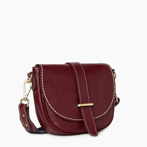 Roots-Women Crossbody-City Side Saddle Cervino-Bordeaux-A