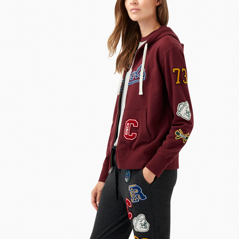 Roots-undefined-Varsity Patches Full Zip Hoody-undefined-C