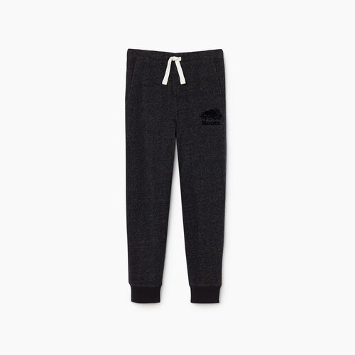 Roots-Kids Bottoms-Boys Park Slim Sweatpant-Black Pepper-A