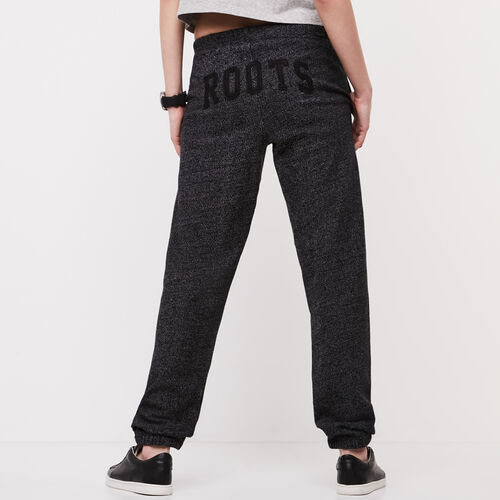 Roots-Women Bottoms-Roots Black Pepper Boyfriend Sweatpant-Black Pepper-A