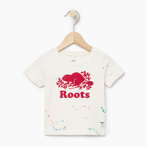 Roots-Sale Baby-Baby Splatter Aop T-shirt-Cannoli Cream-A