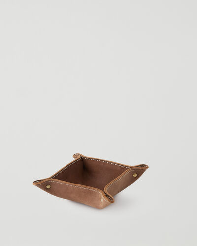 Roots-Leather Leather Accessories-Small Leather Tray Tribe-Natural-A