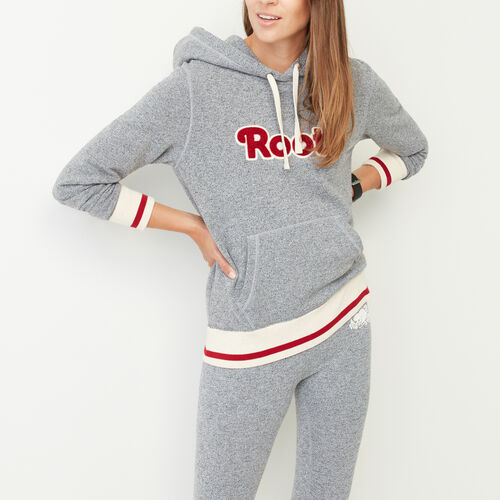 Roots-Women Collections-Roots Cabin Cozy Hoody-Salt & Pepper-A