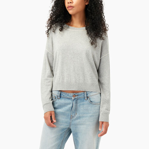 Roots-Sale Women-Tathlina Crew Sweater-Grey Mix-A