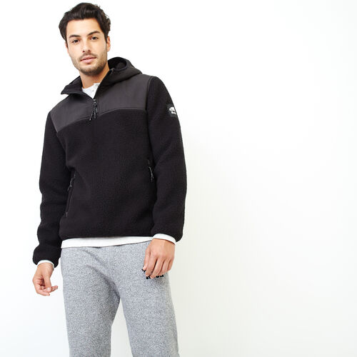 Roots-Men Our Favourite New Arrivals-Whistler Half Zip Sweatshirt-Black-A