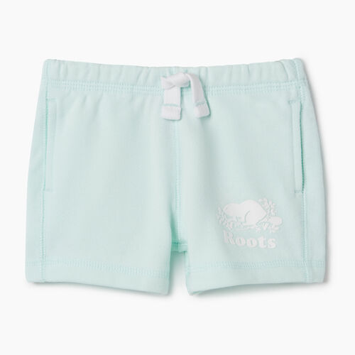 Roots-Kids Bottoms-Baby Original Roots Short-Bleached Aqua-A