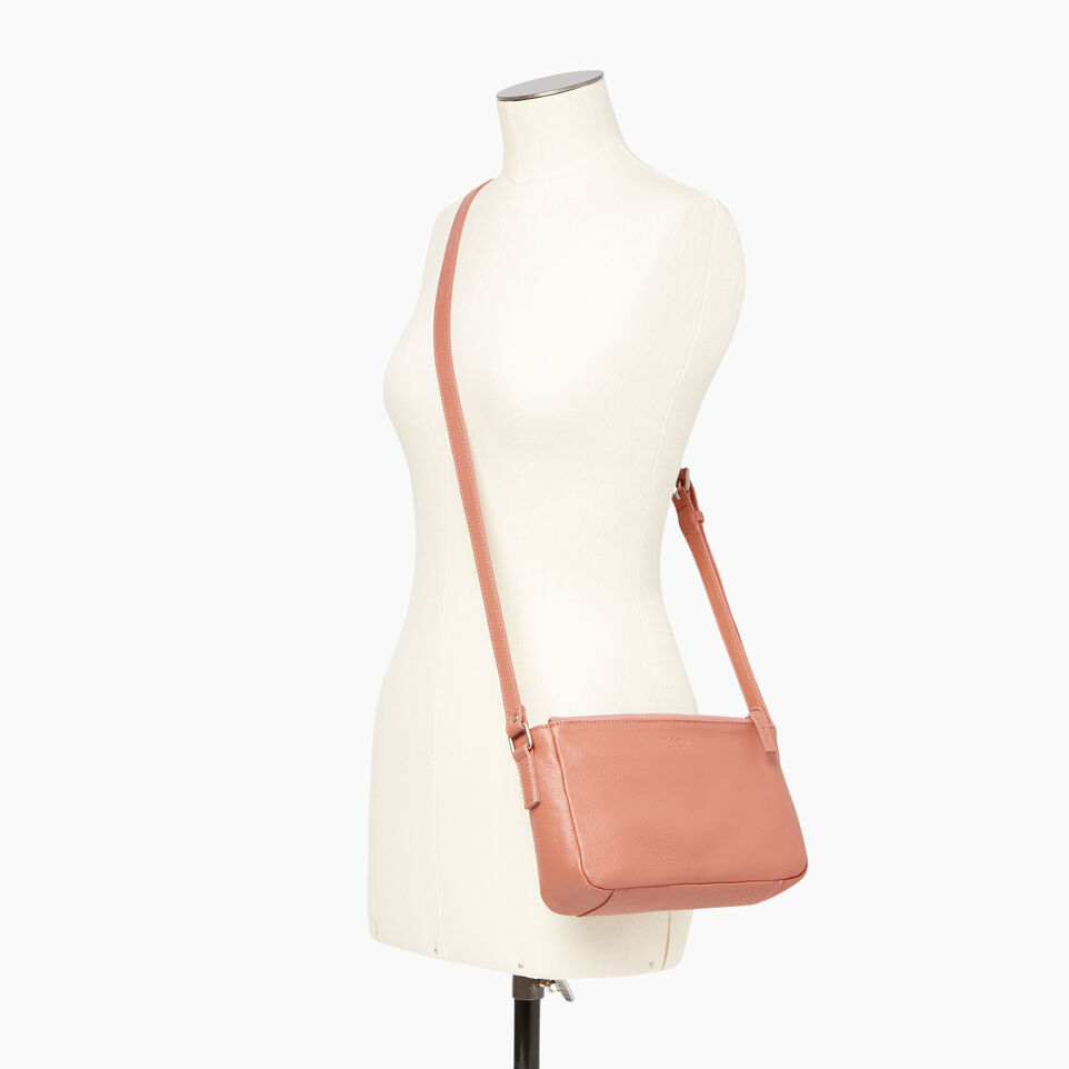 Roots-Leather Categories-Main Street Crossbody-Canyon Rose-B