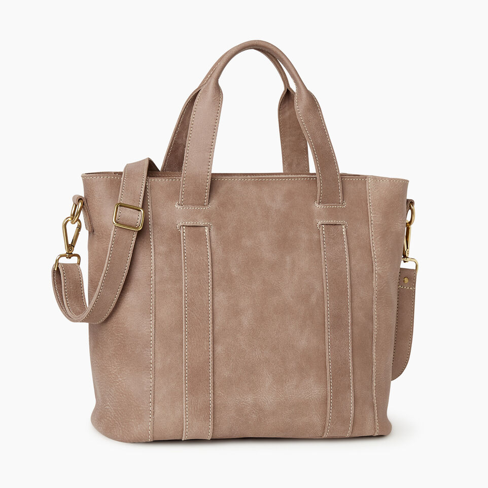Roots-Leather  Handcrafted By Us Our Favourite New Arrivals-Victoria Tote-Fawn-C