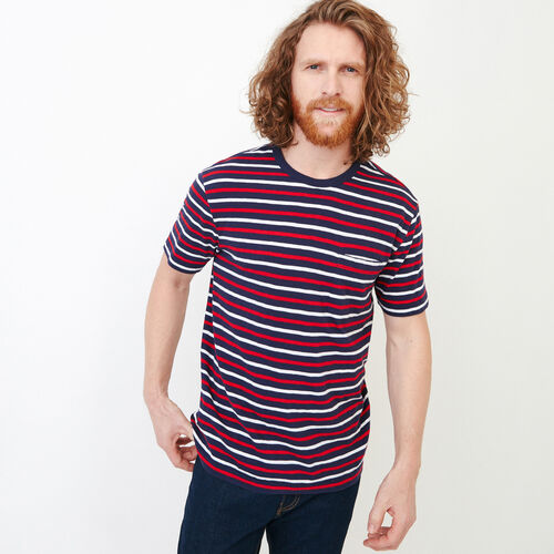 Roots-Clearance Men-Striped Pocket T-shirt-Eclipse-A