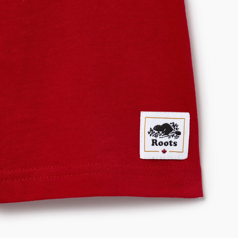 Roots-Kids Our Favourite New Arrivals-Toddler Blazon T-shirt-Sage Red-C