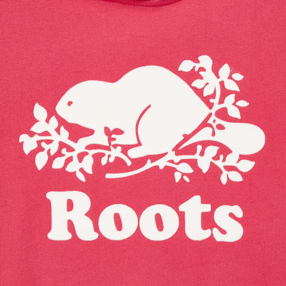 Roots-Clearance Kids-Girls Original Kanga Hoody-Pink Flambé-D