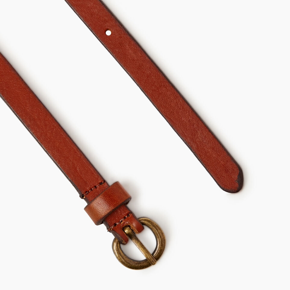 Roots-Women Clothing-Roots Womens Skinny Belt-Cognac-B
