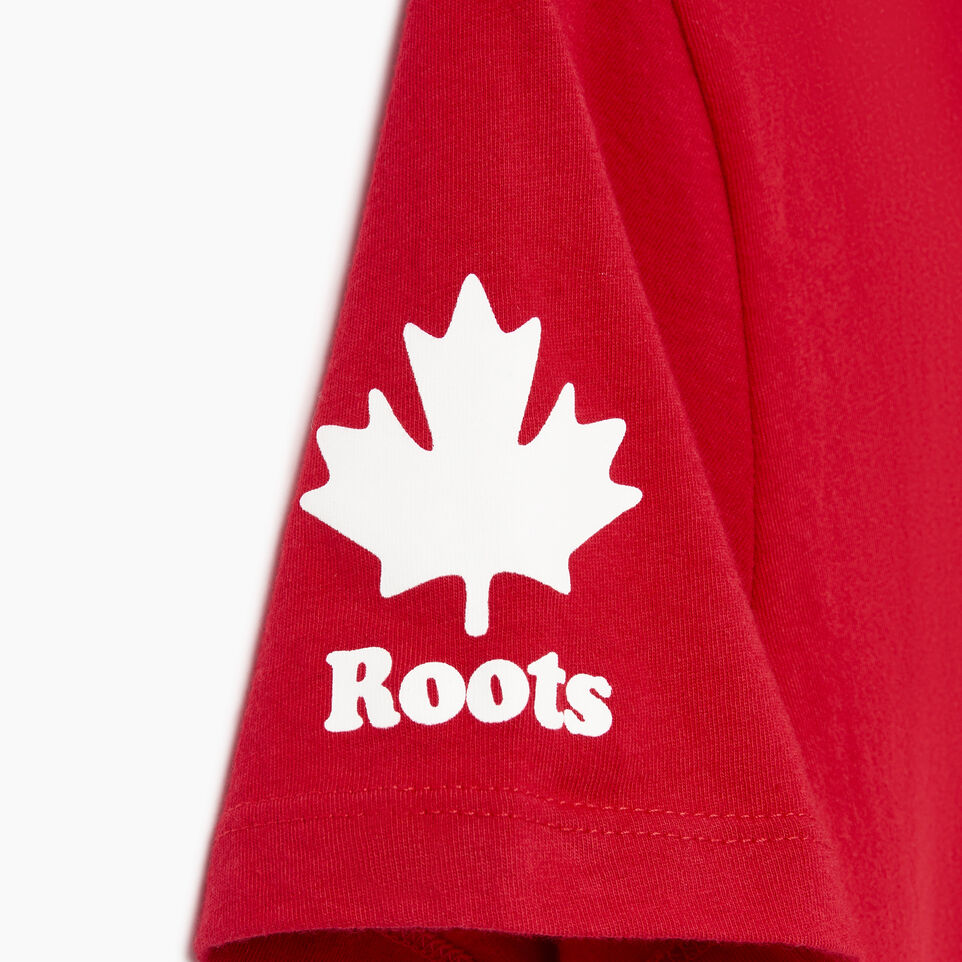 Roots-New For August Canada Collection By Roots™-Womens Roots Canada T-shirt-Sage Red-E