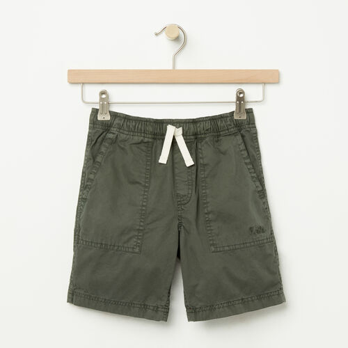 Roots-Sale Boys-Boys Twill Pine Falls Short-Climbing Ivy-A