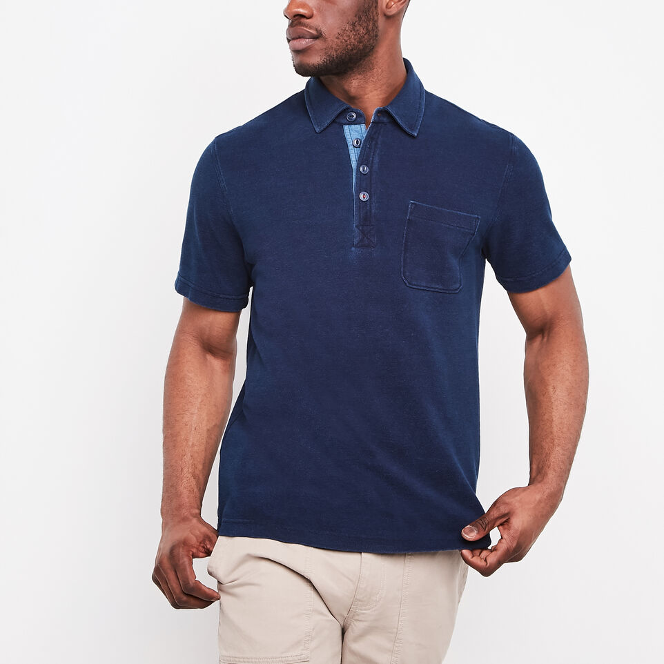 Roots-undefined-Ellesmere Indigo Pique Polo-undefined-C