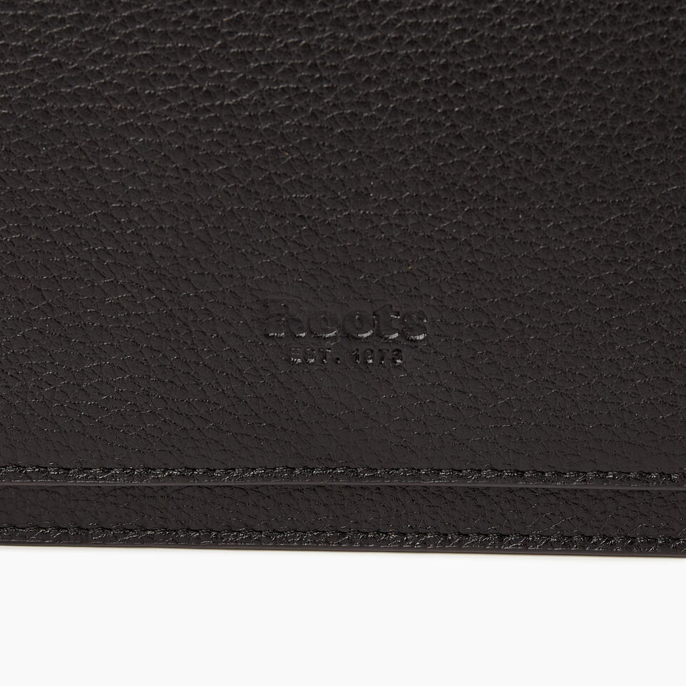 Roots-Leather  Handcrafted By Us Our Favourite New Arrivals-Sussex Wallet Bag-Black-E