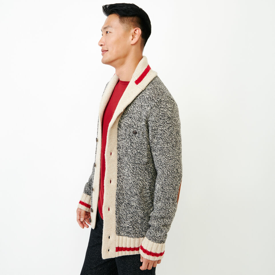 Roots-Men Our Favourite New Arrivals-Roots Cabin Shawl Cardigan-Grey Oat Mix-C