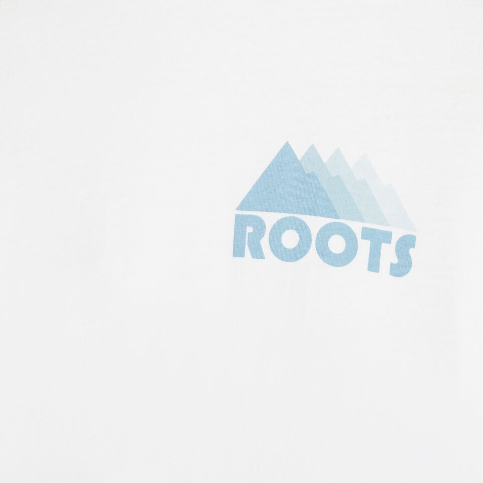 Roots-Men Our Favourite New Arrivals-Mens Mountain Shades Long Sleeve  T-shirt-White-D