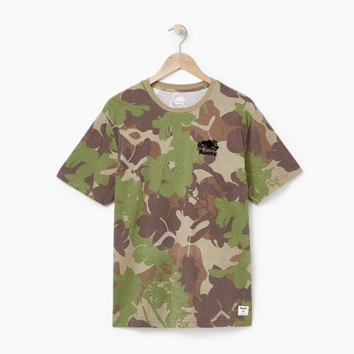 Roots-Men Graphic T-shirts-Mens Eastern Woodlands T-shirt-Covert Green-A