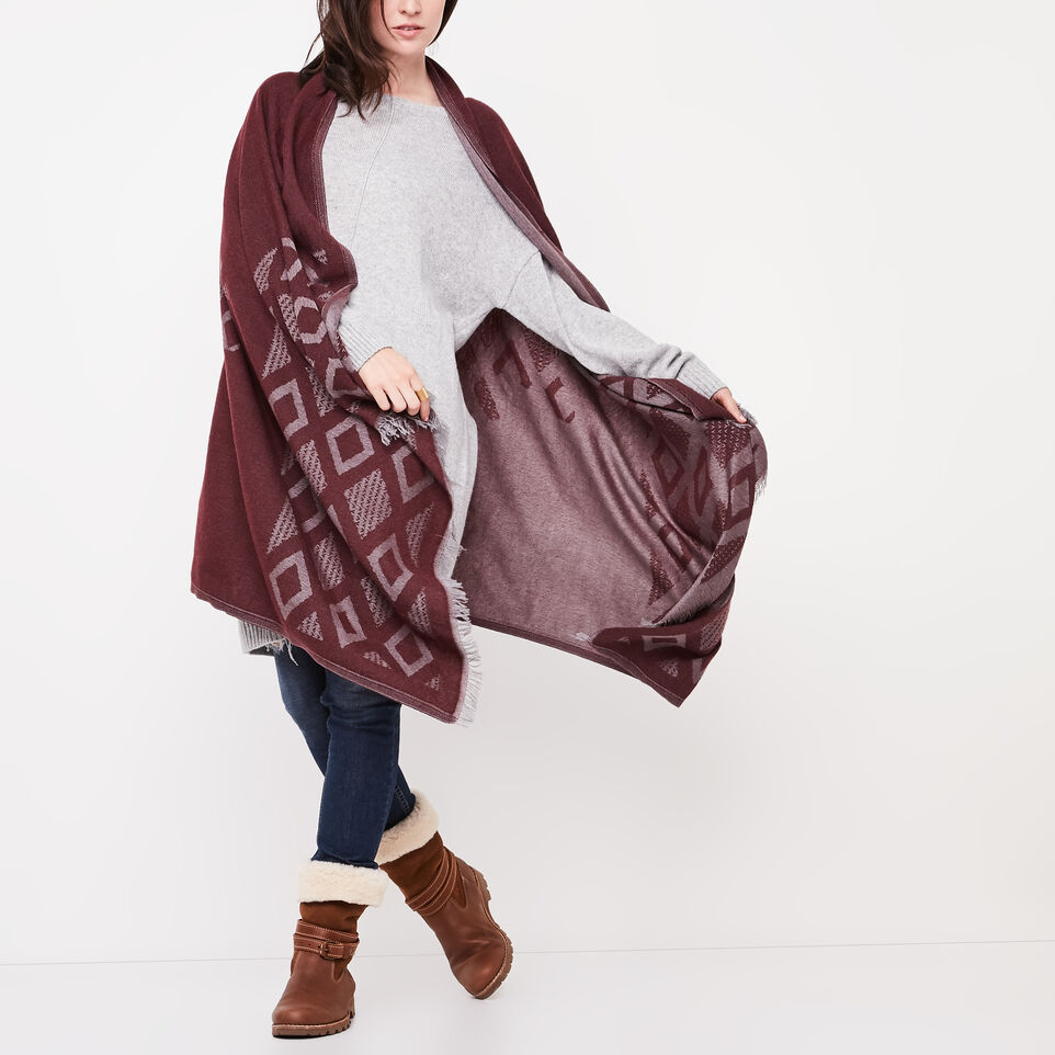 Roots-undefined-Flag Blanket Scarf-undefined-D