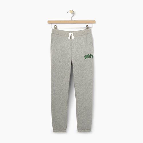 Roots-Winter Sale Kids-Boys Plated Fleece Sweatpant-Grey Mix-A