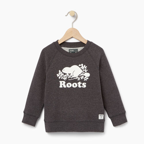 Roots-Winter Sale Toddler-Toddler Original Crewneck Sweatshirt-Charcoal Mix-A