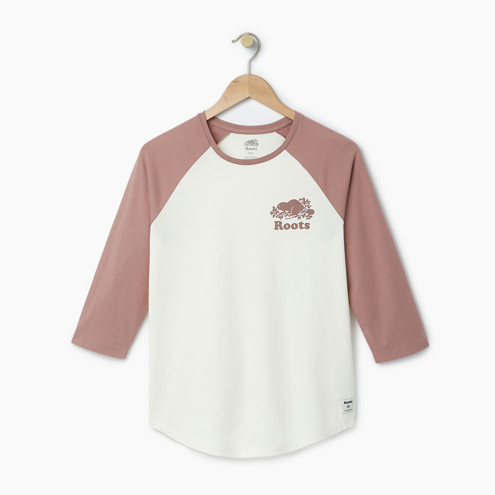 Roots-Women Our Favourite New Arrivals-Womens Cooper Baseball Top-Vintage White-A