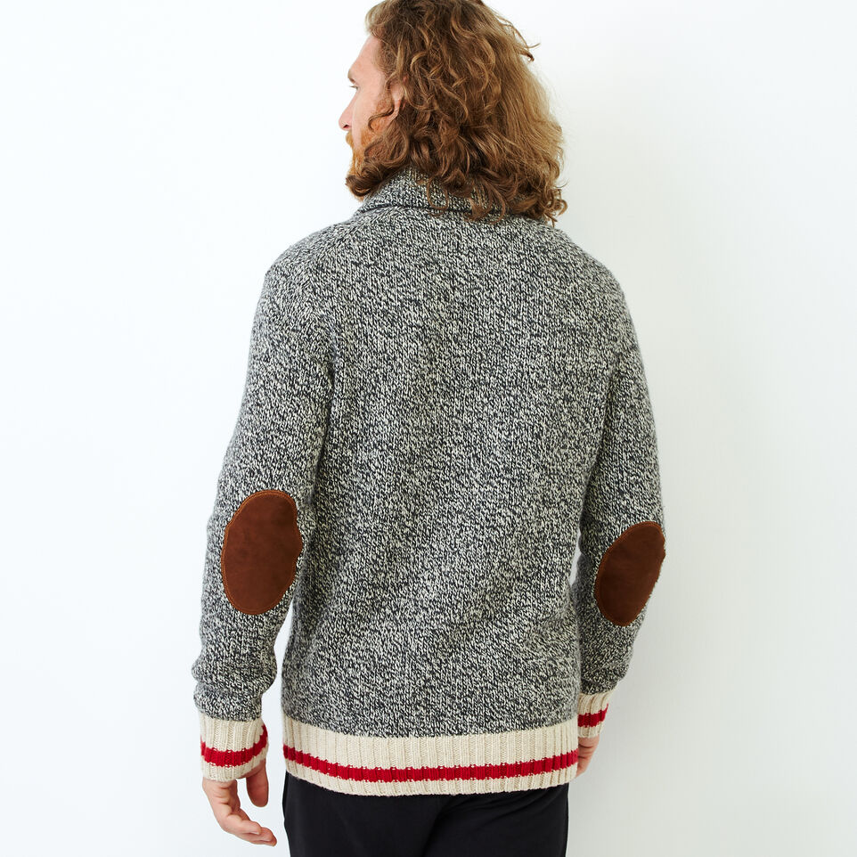 Roots-Men Our Favourite New Arrivals-Roots Cabin Shawl Pullover Sweater-Grey Oat Mix-D