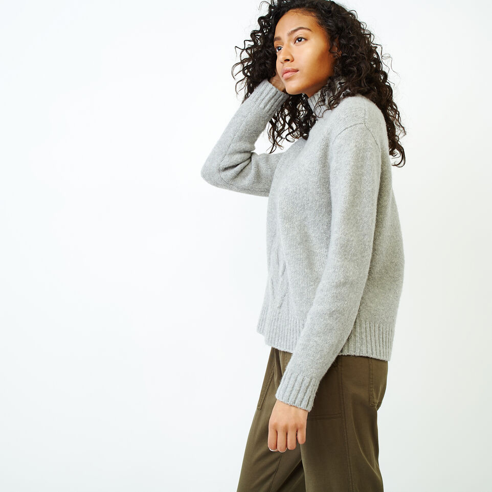 Roots-Women Categories-Nita Cable Sweater-Snowy Ice Mix-C