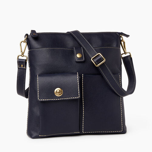 Roots-Women Crossbody-Canadian Villager Cervino-Navy-A