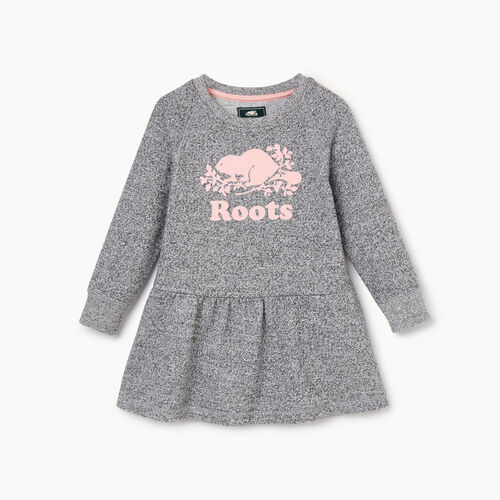Roots-Kids Our Favourite New Arrivals-Toddler Cooper Beaver Peplum Dress-Salt & Pepper-A