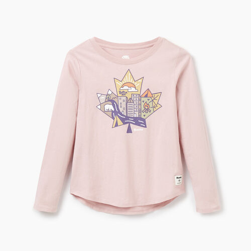Roots-Sale Kids-Girls Explorer T-shirt-Burnished Lilac-A